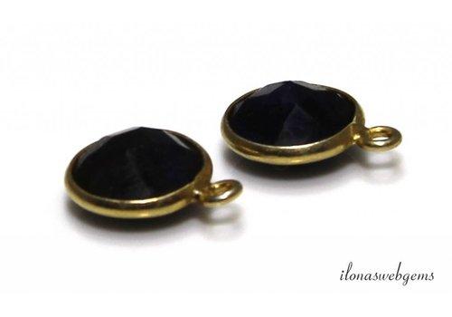 Vermeil pendant with Sapphire facet about 10.5mm