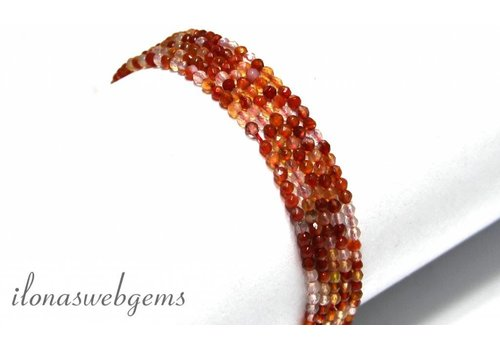Karneol Perlen Facettentiert ca. 2mm