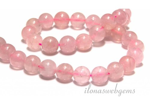 Rose quartz beads around 12.5mm