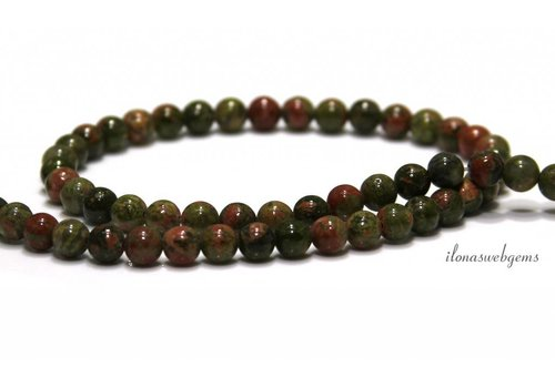 Unakite beads beads around 8mm
