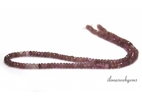 Pink Toermalijn shaded kralen facet rondellen ca. 4x2-3mmmm