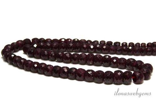 Rubin Perlen Facette Rondell auf und ab von 4,5x2,5 bis 10x6mm