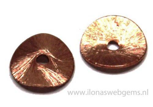 1 stuks Rosé Gold plated chips ca. 12mm