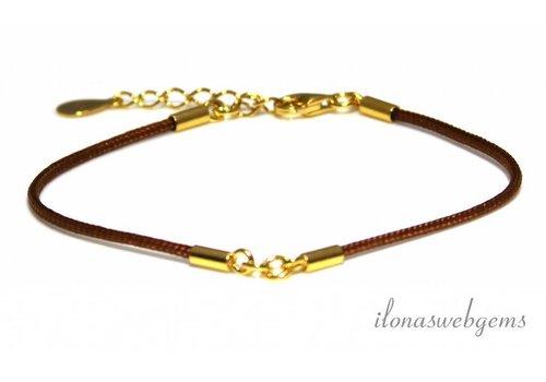 Armband basis met Vermeil ca. 15.5cm