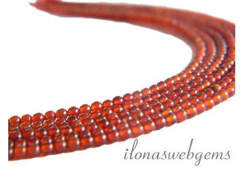 Carnelian - Red Agate beads mini app. 3mm