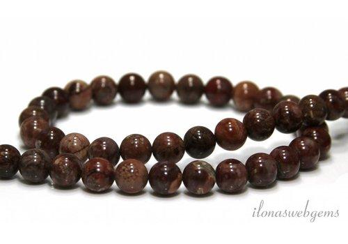 Pomergyanite Jasper beads around 8mm