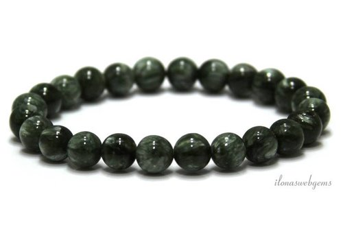 Seraphinite beads around 8mm AA quality