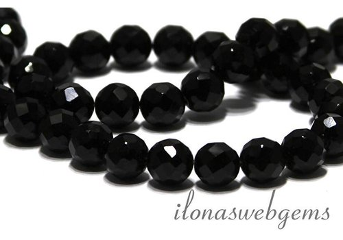 Onyx beads facet around 10mm