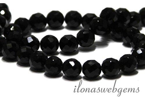 Onyx Perlen facettiert um 10mm