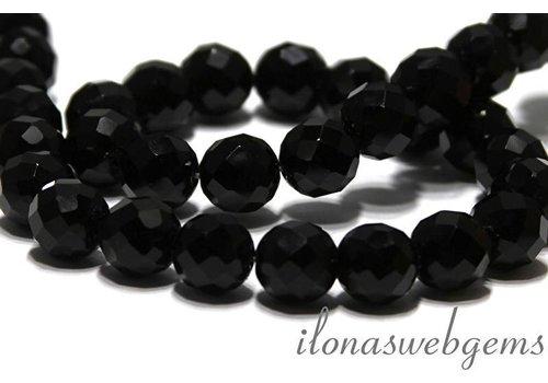 Onyx Perlen Facette etwa 12mm