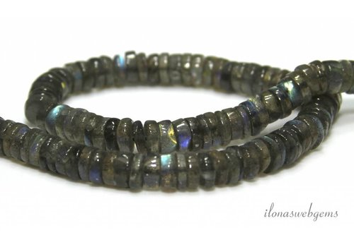 Labradorite beads discs approx. 7x3mm