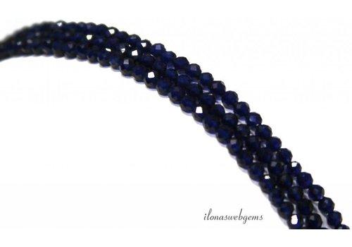 Cubic Zirconia beads 'Sapphire' facet around ca. 2.2mm