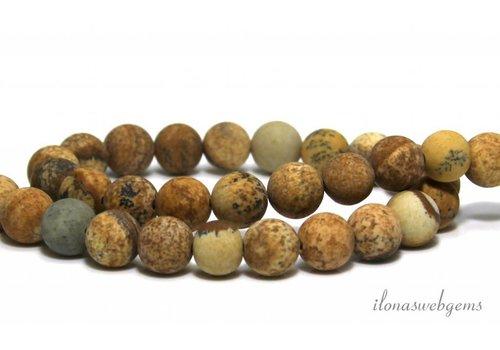 Desert Jasper beads round mat approx. 8.5mm