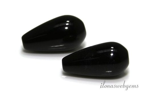1 Paar Onyx-Stifte ca. 20x10mm
