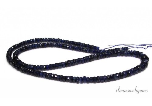 Kyanite beaded faceted roundel ascending and descending from approx. 4x2 to 7x3mm
