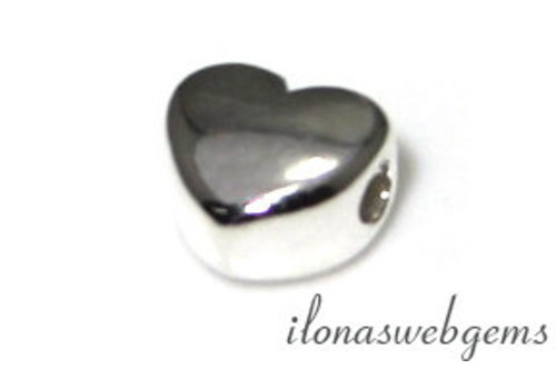 Sterling silver bead heart approx. 7x6mm