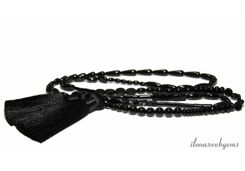 1 meter Onyx beads mix small