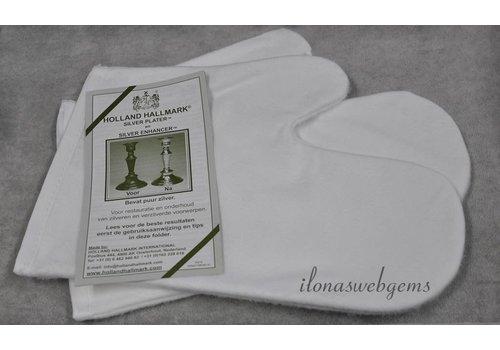1 Paar silberne polnische Handschuhe
