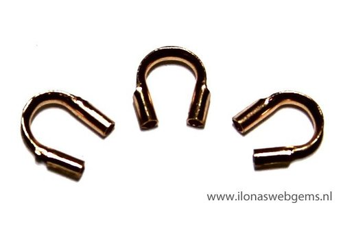 10 pieces Rose Gold Filled wire guard / guide wire 5mm