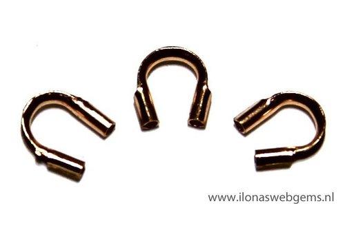 10 Stücke Rose Gold gefüllte Drahtschutz / Führungsdraht 5mm