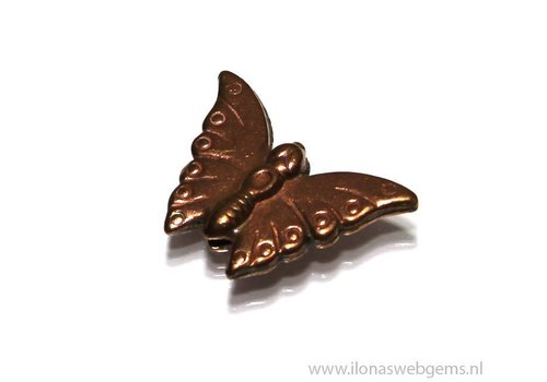 6 pieces `Rosé gold` Hill tribe butterfly