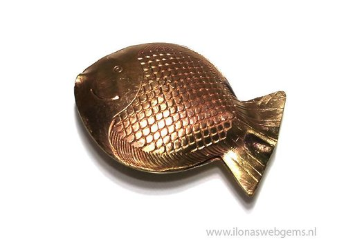 `Rose gold` Hill tribe bead Fish app. 57x43mm Medium