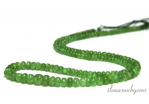 Diopside beads roundel rising and falling from approx. 3x2 to 6x5mm
