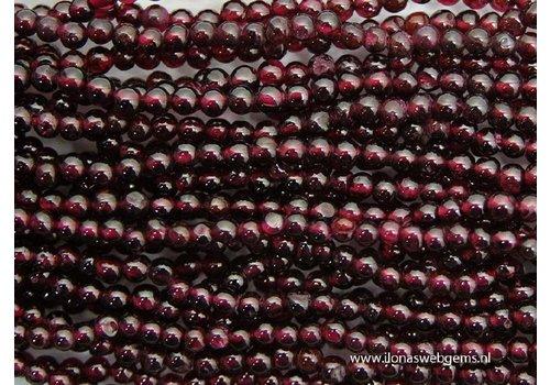 Granat   Perlen rund ca. 4mm