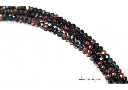 Swarovski style crystal beads faceted roundel approx. 3x2mm - Copy