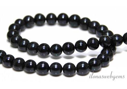Freshwater pearls black around 10mm - Copy