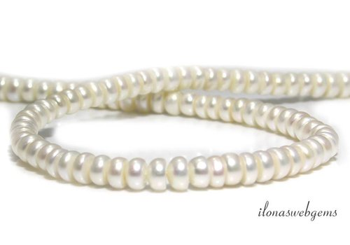 Freshwater pearl roundel approx. 7mm A quality
