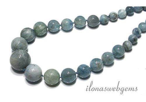 Aquamarine beads round 'choker'