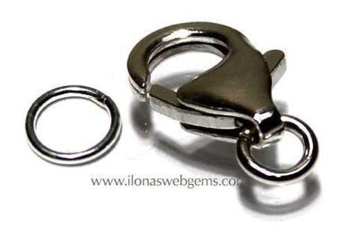 Sterling silver lobster clasp approx. 13 mm