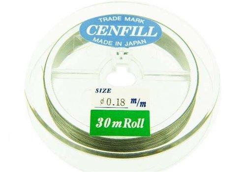Cenfill RVS gecoat rijgdraad 0.18mm ( 7 draads)