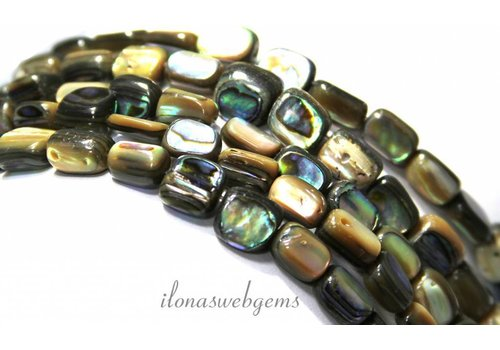 Abalone shell kralen 8x6x3.5mm