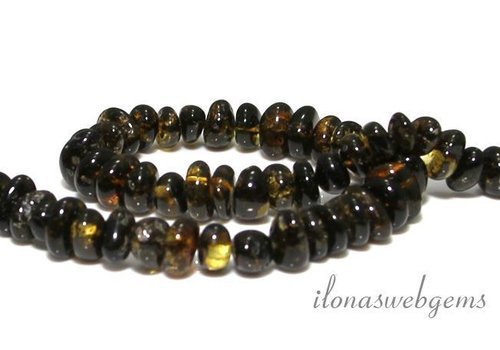 Amber / Amber beads approx. 9x5mm