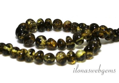 Amber / Amber beads approx. 7.5x7mm