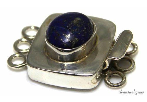 Sterling Silber Boxschloss mit Lapislazuli