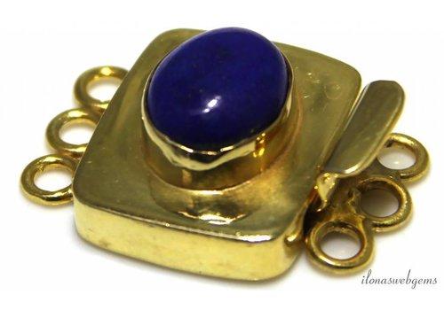 Vermeil box lock with Lapis Lazuli