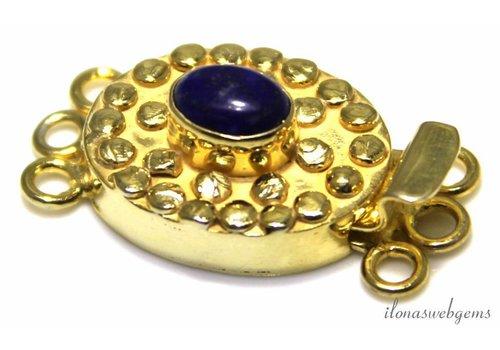 Vermeil bakslotje met Lapis Lazuli
