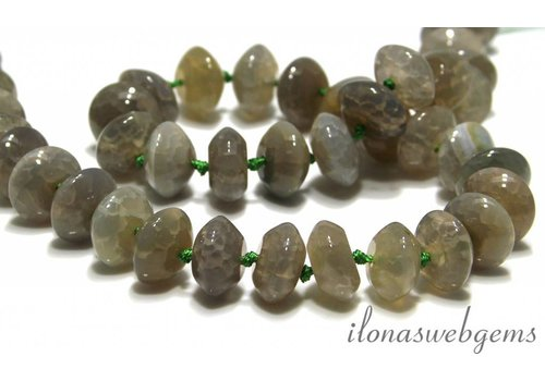 Fire Agate beads around 14x7.5mm