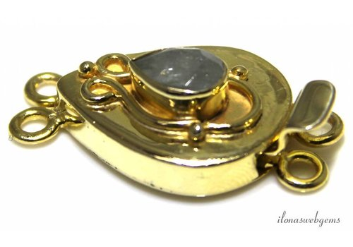 Vermeil box lock with Aquamarine