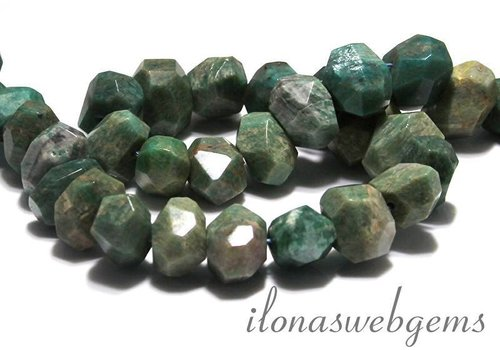 Russian Amazonite beads free shape facet