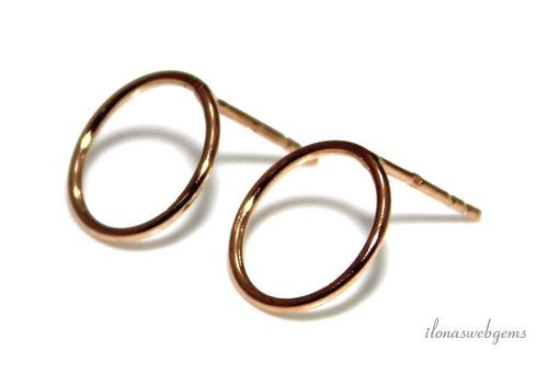 1 pair of Rosé Vermeil ear studs