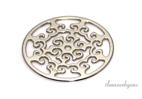 Sterling silver pendant approx. 16.5mm