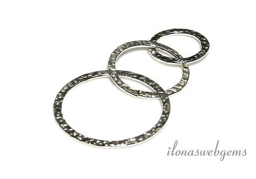 Silver plated hammered rings 3 pieces