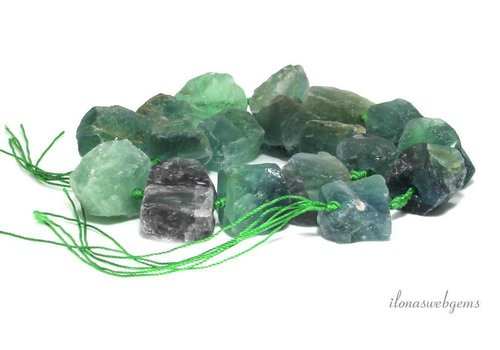 Fluorite beads rough approx. 15-25mm - Copy