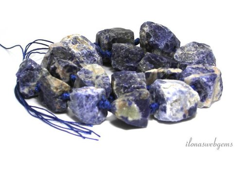 Sodalite beads rough approx. 16-25mm