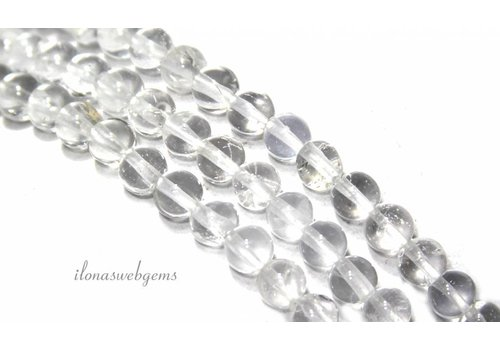 Rock crystal beads round A quality about 4mm