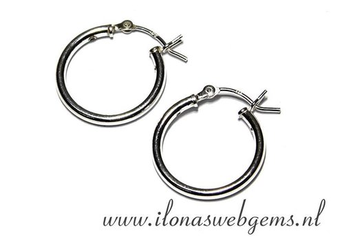 1 pair of Sterling silver creoles 18mm